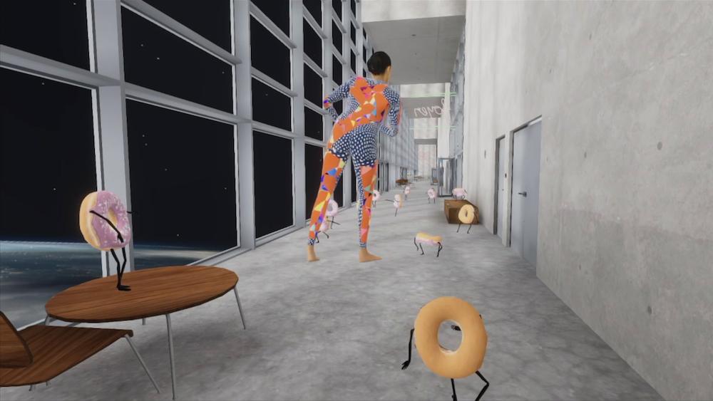 """Bild: CROSSING""""  Medienkunst und Tanz - CIE GILLES JOBIN  La Comédie Virtuelle"""
