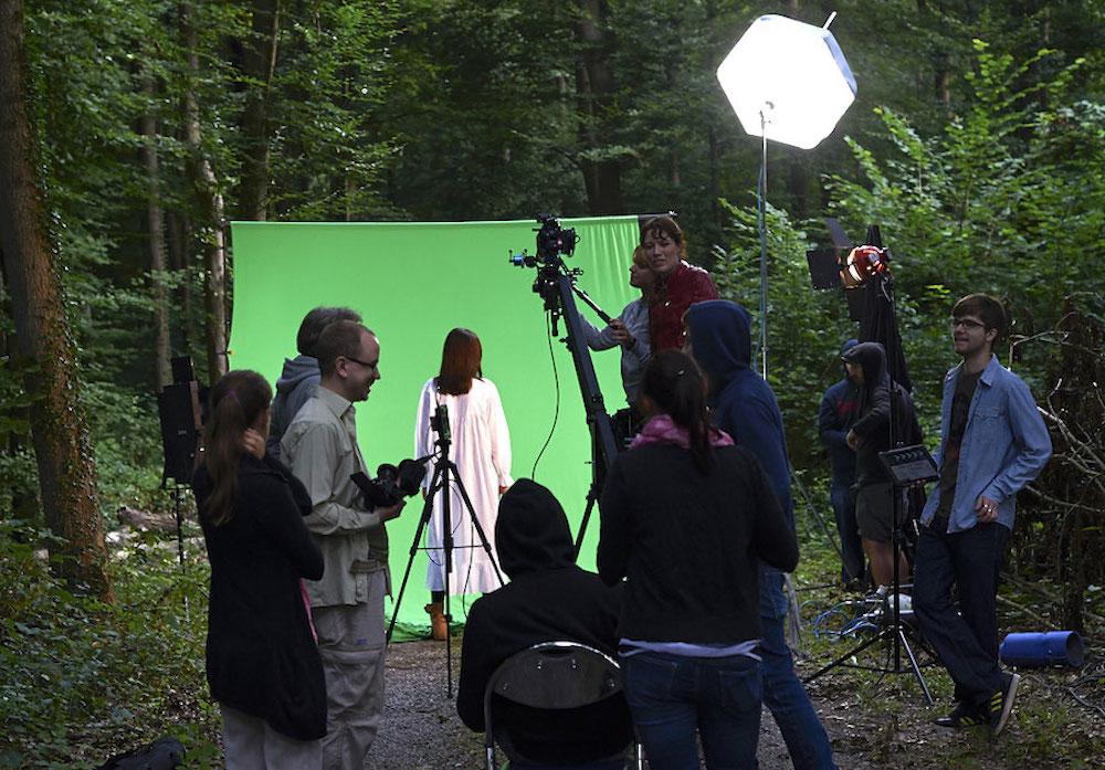 Bild: Es grünt so grün: Ein Dreh im Wald, Teil 1